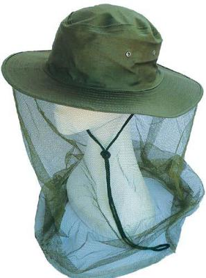 Green Cotton Hat with Fly Veil