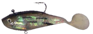Oz shad 10cm Green with Stripes