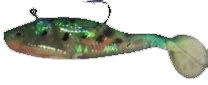 Oz shad 10cm Green Dot