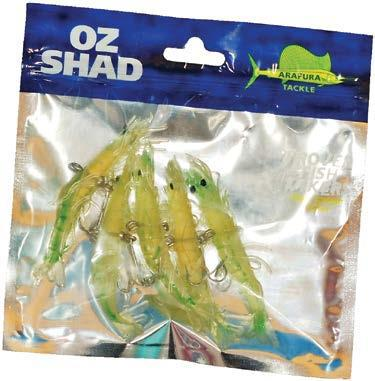 Prawn Shads Clear Lime