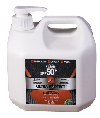 Sunscreen Pump Bottle 2.5LT
