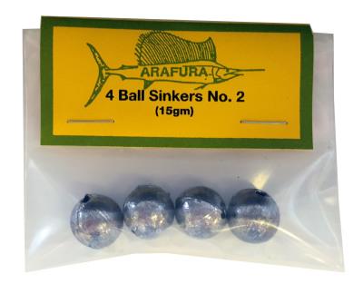 Ball Sinker Size 2 Hang Sell Bag