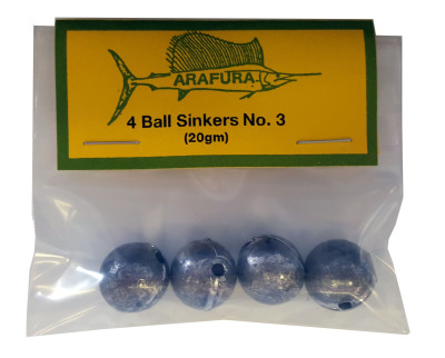Ball Sinker Size 3 Hang Sell Bag