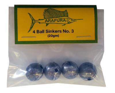Ball Sinker Size 3 Hang Sell Bag