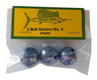 Ball Sinker Size 4 Hang Sell Bag