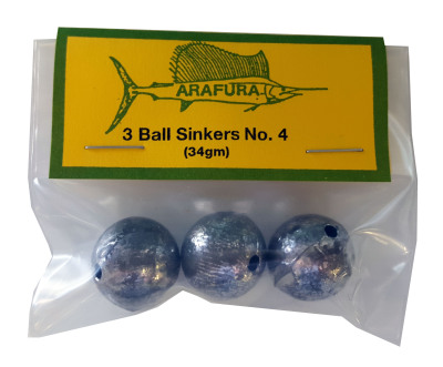 Ball Sinker Size 4 Hang Sell Bag