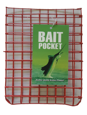 Bait Pocket Red Metal Small