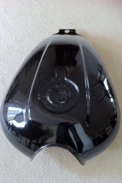 Gloss Black Honda Tank