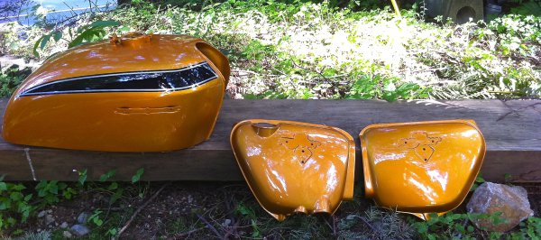 Honda Restored Tank and side covers