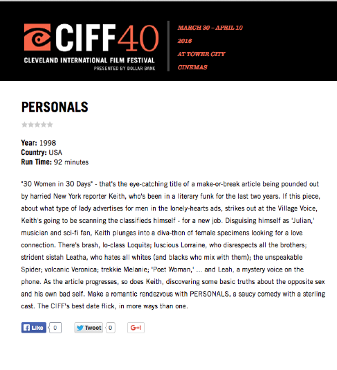 PERSONALS FILM FEST REVIEW