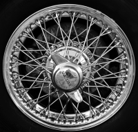 Jaguar Sports Car wheel.