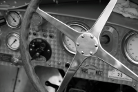 Bugatti racing car steering wheel.