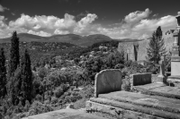 Marc Chagall cemetery, St Paul de Vance, France.