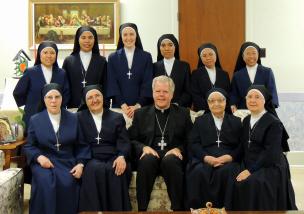 The Sisters in Welland, with Bishop Gerard Bergie
