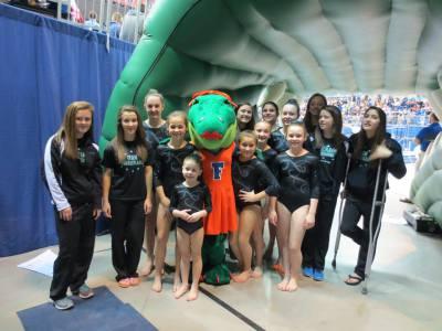 UF Gator gymnastics meet