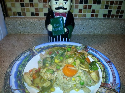 Chicken Chow Mein with Fried Rice