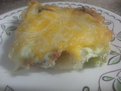 Ham Potato Egg Bake
