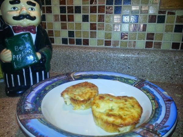 Cheesy  Mashed Potato Muffins