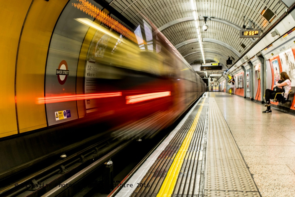 London underground long exposure photography