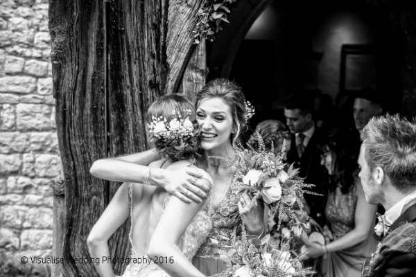 Birde and bridesmaid at Oxford wedding shot by Andy of Visualise wedding photography oxfordshire