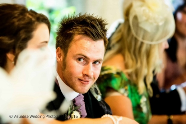 loving look of groom to his bride in Oxfordshire wedding photography shot