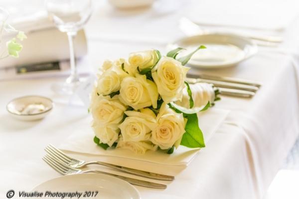 a beautiful wedding bouquet shot by wedding photographer oxford