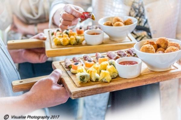 eynsham hall wedding photographer visualise photography , wedding day food,