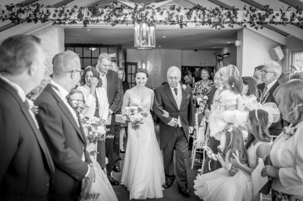 HERE COMES THE BRIDE AT THE BAYTREE HOTEL BURFORD WEDDING PHOTOGRAPHY OXFORDSHIRE