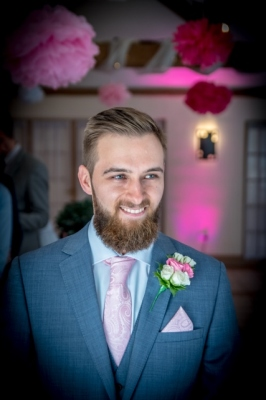 smiling groom