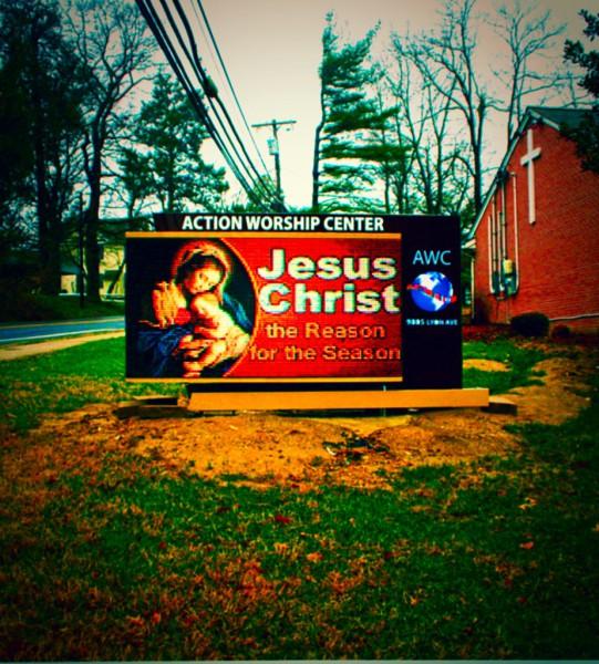 AWC, ACTION WORSHIP CENTER, epic led, led sign, led signs, outdoor led sign, 20 mm led sign