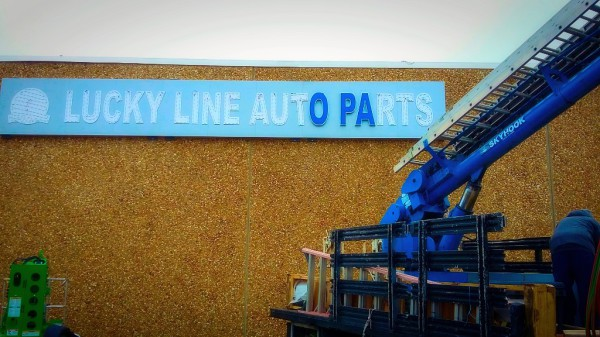 LUCKY LINE AUTO PARTS, LUCKY LINE LOTORS, LUCKYLINEVA.COM, FREDERICKSBURG, VA, EPIC LED, CHANNEL LETTERS, CHANNEL LETTER SIGN, ELECTRIC SIGN, ELECTRIC SIGNS, ELECTRIC SIGN SERVICE, SIGN INSTALLATION