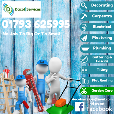 decorating, carpentry, electrical, plastering, plumbing, gutters, flat roofing, garden care, grass cutting, plumbers, electricians, carpenters