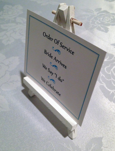 Simple Order of Service