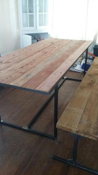 Custom Fabricated Table (Side View)