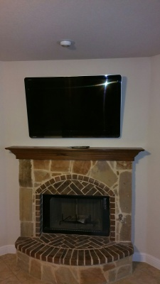 52 Inch TV Mounted