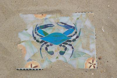 Blue Claw Crab Mosaics