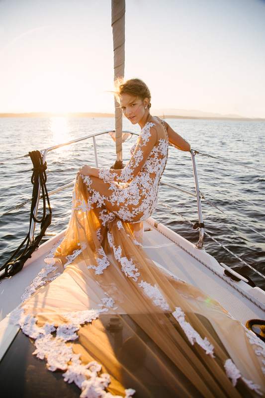 Nautical Wedding Makeup and Hair in Seattle