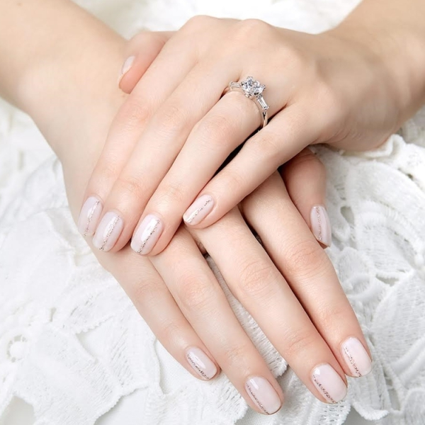 Wedding Mani, Seattle Bridal Beauty, Nails By Cassidy, Julep, Nail Design