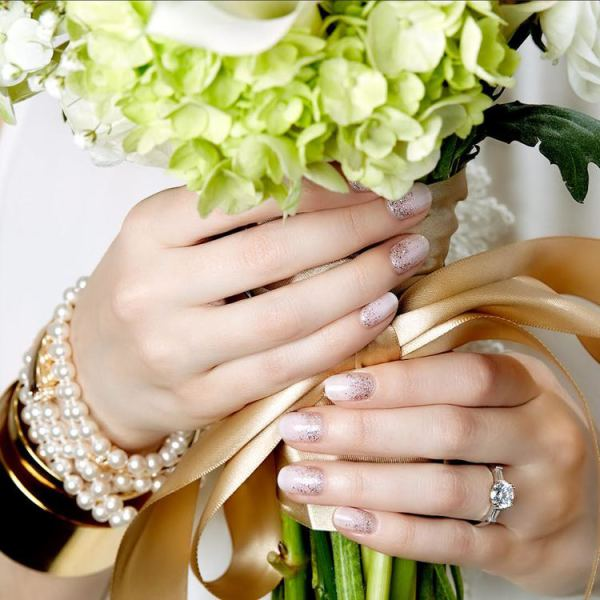 Wedding Nail Design, Seattle Bridal Mani, Nails by Cassidy for Julep