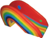 splash pad, rainbow slide, kiddie slide, splashpad