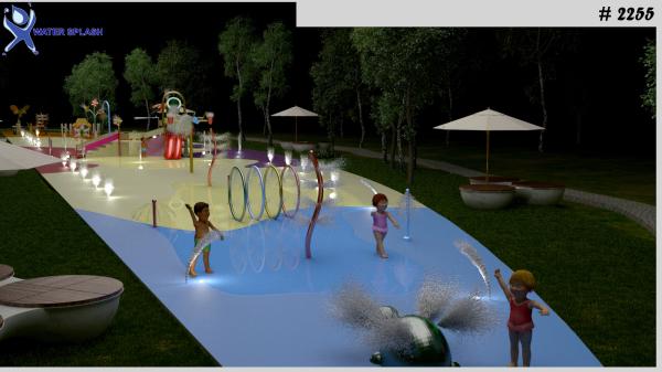 fountain, splashpad, splash park, led light, fountain with led