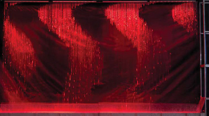 Digital water curtain, led light show, splash park, splashpad