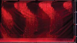 Digital water curtain, led light show, splash park, splashpad