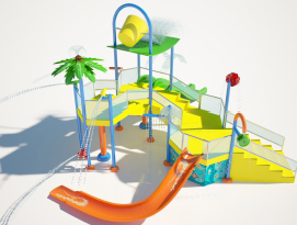 Slide, water slide, splash pad, splashpad, splash park