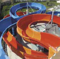 splashpad, pool slide, slide, splash park