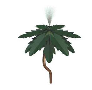 S-01.02 Aqua Palm Tree