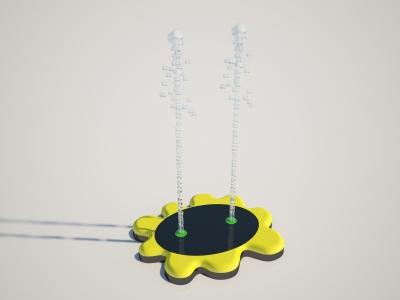 S-02.26 Flower I - Aqua Shapes