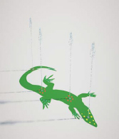 S-02.35 Lizard Splash - Aqua Shapes