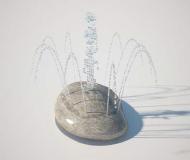 S-02.36 Fountain Rock - Aqua Shapes
