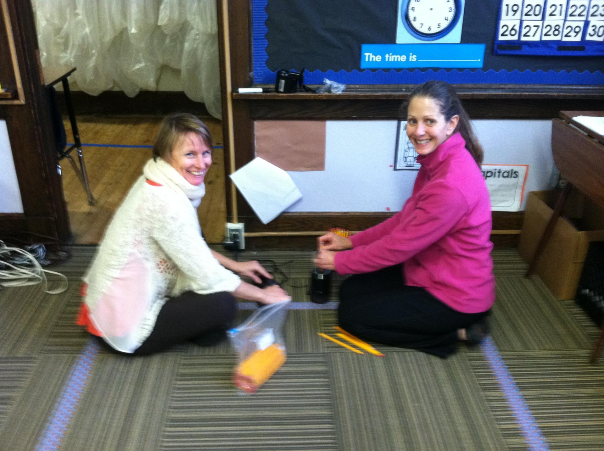 YANA students doing karma yoga at inner city school